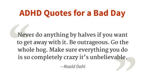 """Never do anything by halves."" - Roald Dahl"