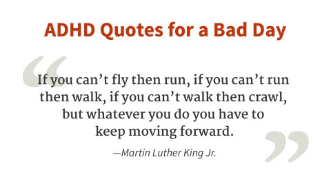 """If you can't fly, then run..."" - Martin Luther King, Jr."