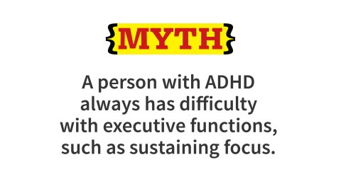 Clinical data indicate that executive function impairments are situationally-variable; each person with ADHD tends to have some specific activities or situations in which she has no difficulty in using executive functions that are significantly impaired for her in most other situations. Typically, these are activities in which the ADDer has a strong personal interest or about which he believes something unpleasant will follow quickly if he does not do the task right now.