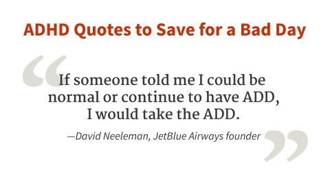 """I would take the ADHD."" - David Neeleman"