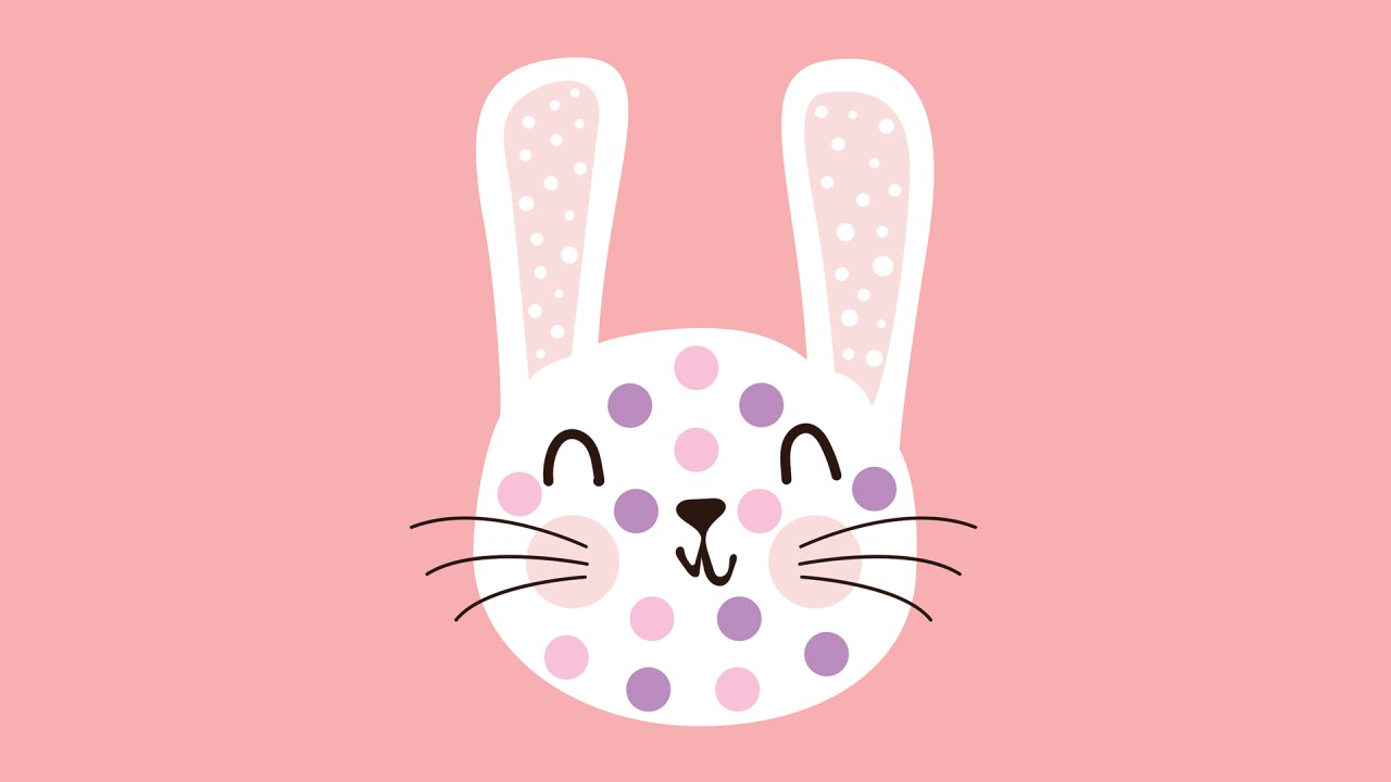 bunny with polka dots