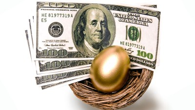 A nest with a golden egg and money in it represent the best ways to save money.