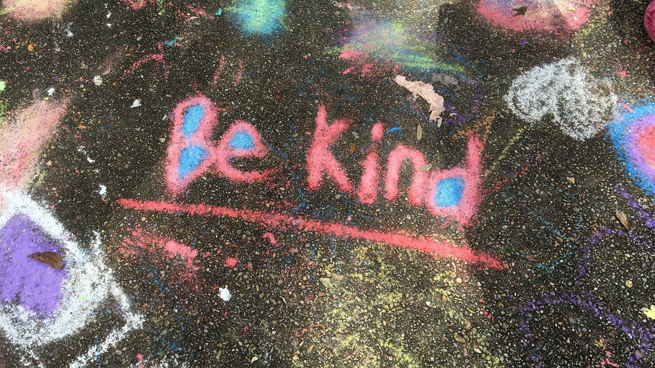 Social interaction through sidewalk chalk