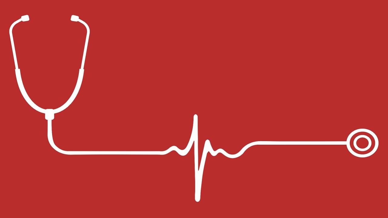 A stethoscope with EKG symbolizes life expectancy.