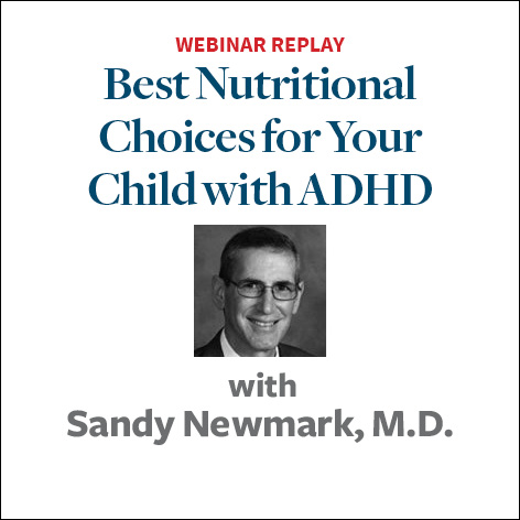 top nutritional choices for your child with adhd