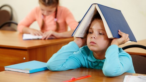 Bored kids in the classroom need help with executive functions.