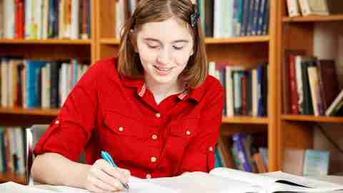 A student uses textbook supplements to study more efficiently, while helping to address ADHD in high school.