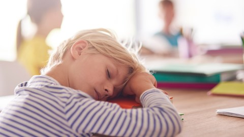 ADHD Student sleeps in class because the teacher didn't grab her attention.