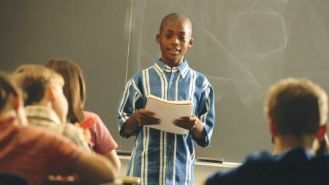 Interrogating a student will cause them to shut down, not comfortable giving a report in front of the class.