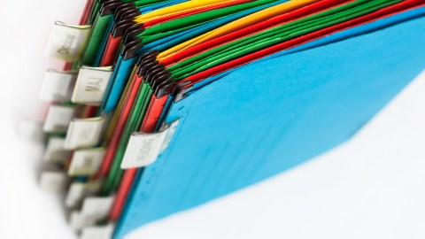 A colorful filing system like this one can help you get things done by improving your awareness of your tasks and location of important information.