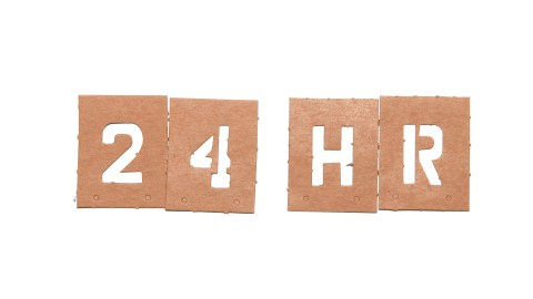 "The words ""24 HR,"" representing the 24/7 coping skills you'll need to manage ADHD"