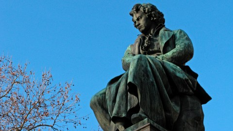 Statue of Beethoven, who is a good composer for music therapy for children with ADHD.