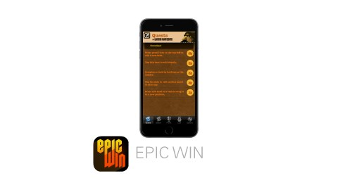 Epic Win is a great app to improve productivity for people with ADHD