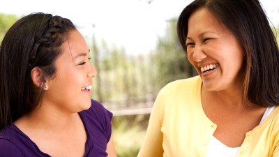 Mom and daughter with ADHD discuss responsibilities