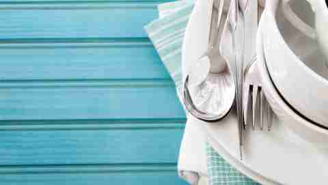 A neat place setting - a cleaning tip is to keep surfaces clear and organized