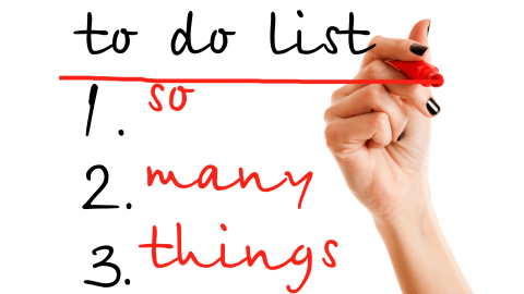 A to do list will show you how to organize your home.