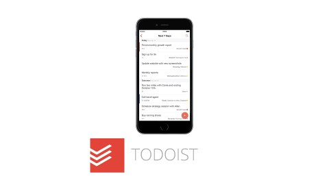 This image shows the ADHD app Todoist, which is great for time management