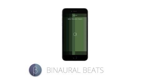 This image shows the ADHD app Binaural beats