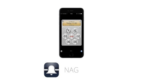 This image shows the ADHD app Nag, which is great for time management