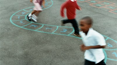 "Teachers can help children make friends by taking playground breaks from the classroom routine whenever possible. Children relax when they play games that everyone knows — and they forget their differences. Weakness that may show up in the classroom may disappear on the playground. Choose noncompetitive games, like ""Amoeba Tag,"" in which the goal is for everyone to be ""It."""