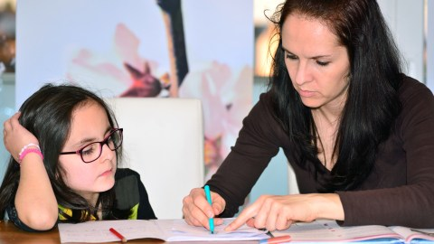 A mother, daughter duo team up using a smart adhd homework strategy.