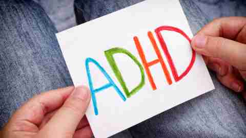 A student's drawing of ADHD after finding out that he has been diagnosed with it.
