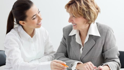 "A woman meets with her supervisor, and wonders, ""Should I tell my boss I have ADD?"""