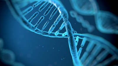 A DNA strand represents the genetic component of autism spectrum disorders.