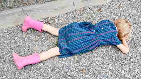 Positive parenting can help children like this one who fell down, get right back up again and keep trying.