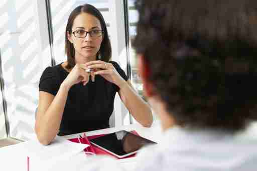Woman interviewing ADHD coaches for job