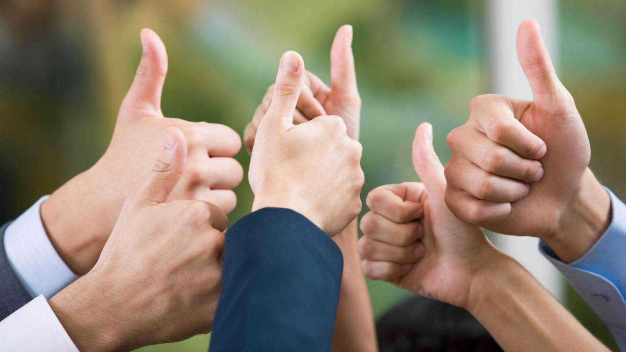 Thumbs up being given by ADHD success stories