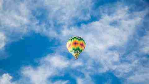 Rise above negativity like a hot air baloon