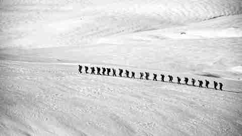Don't have to go it alone, like this team trekking through arctic, with ADHD