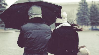 Couples guidelines and sharing the umbrella