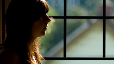 A woman with ADHD showing signs of anxiety