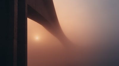 Personal fullfillment is a long and often unclear process, like a bridge into the haze