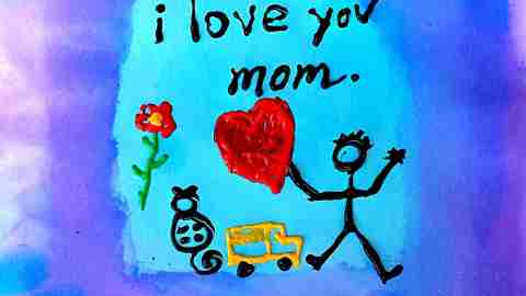 Kim Stricker on her ADHD child's Mother's Day card