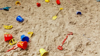 Unclear Diagnosis: Buckets & Pails Scattered In Sandbox