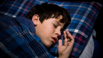 An ADHD child sleeping peacefully.