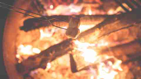 ADHD summer camp transitions, from doing homework to roasting marshmallows