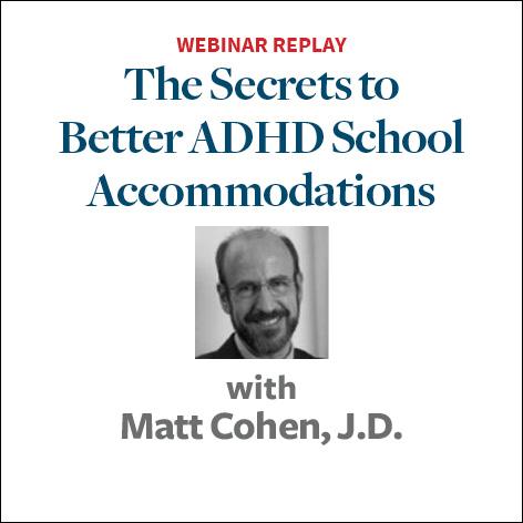 Secrets to Better ADHD School Accommodations2