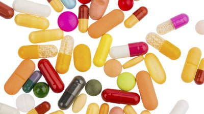 Close up of various ADHD medications for adults