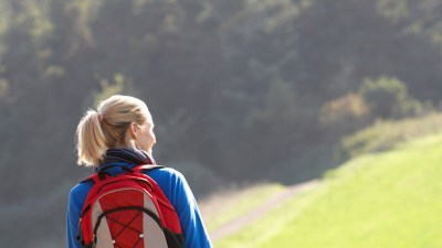 Woman with ADHD getting green time outdoors