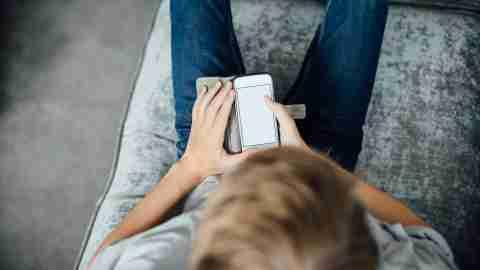 ADHD Boy Using Smartphone