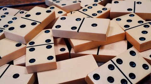 Dominoes are a good game to play as a family with an ADHD kid
