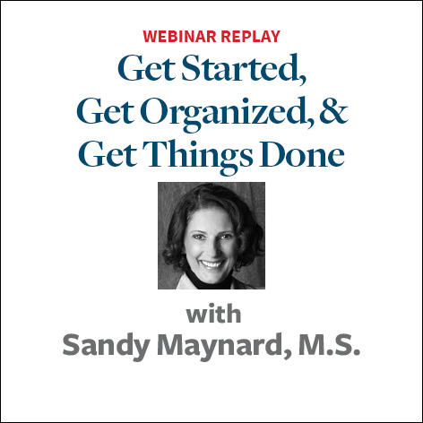 get started get organized and get things done