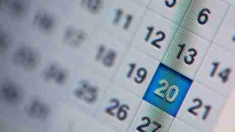 An online calendar, a common ADHD organizational tool
