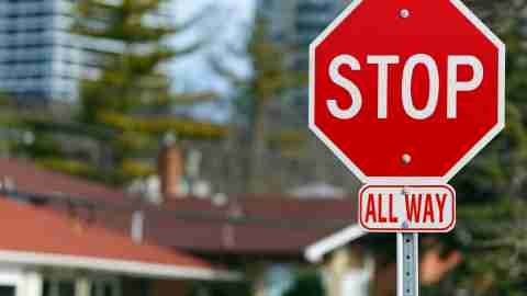 A stop sign, a metaphor for how to stop anxiety