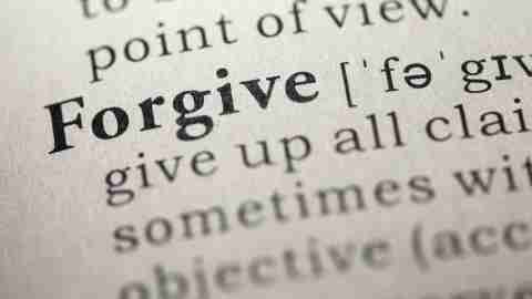 The definition of the word forgive, something many people diagnosed with ADHD need to learn to do