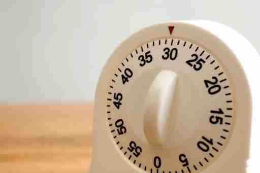 A kitchen timer on a counter, used in several ADHD coping skills